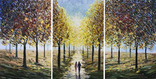 Autumn Sunrise Triptych
