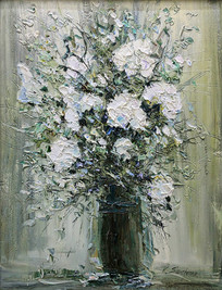 White Floral Bouquet II
