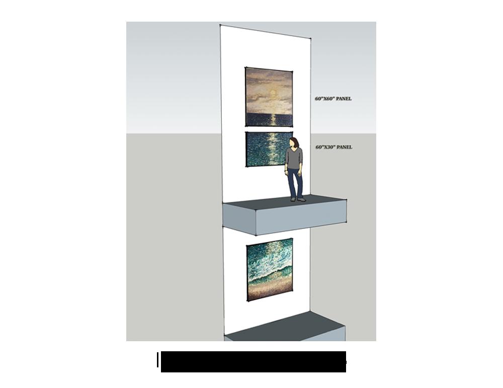 Ocean Calm Triptych