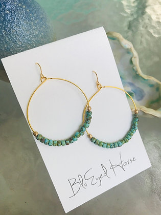 Turquoise Picasso Hoops