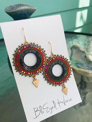 Woven Seed Bead Earrings