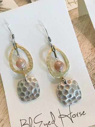 Hammered Silver & Gold