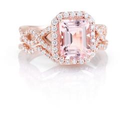 Rose Gold Kunzite and Diamond Ring
