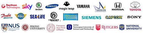 AiQ Synertial Clients Include, Sky, SKODA, Samsung, Yamaha, Honda, Toyota, Sea Life, Siemens, Sony, And More