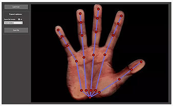 Cobra Gloves - Phalanx Length Measurement - Use An Ordinary Scanner - Load Touch Up With Drag & Drop Feature