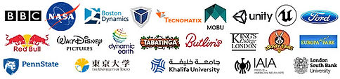 AiQ Synertial Clients Include, BBC, NASA, FORD, Red Bull, Walt Disney Pictures, Europa Park, Kings College London, And More