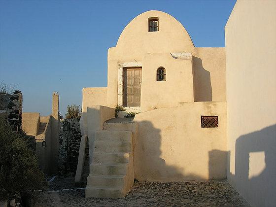 Santorini Old House on the Hill