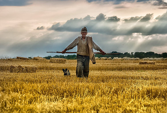 Old Man with a Dog