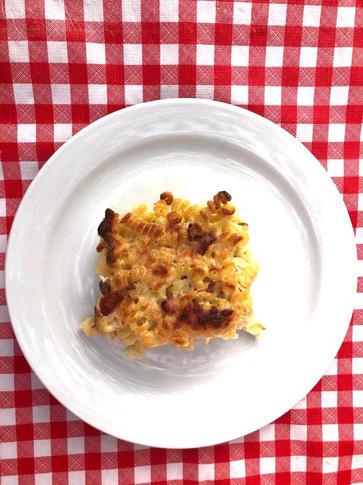 Timballo di pasta alla gricia.