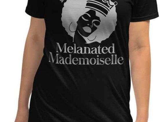 Melanated Mademoiselle Large Logo Tee