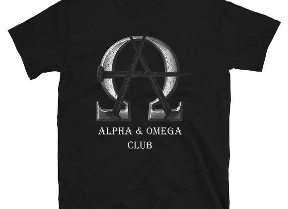 Alpha & Omega Club  Large Logo Tee