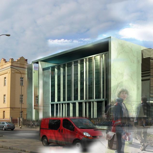 Widok na budynek - elewacja frontowa