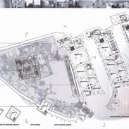 Rzut kondygnacji projektowanego muzeum w Grodnie.
