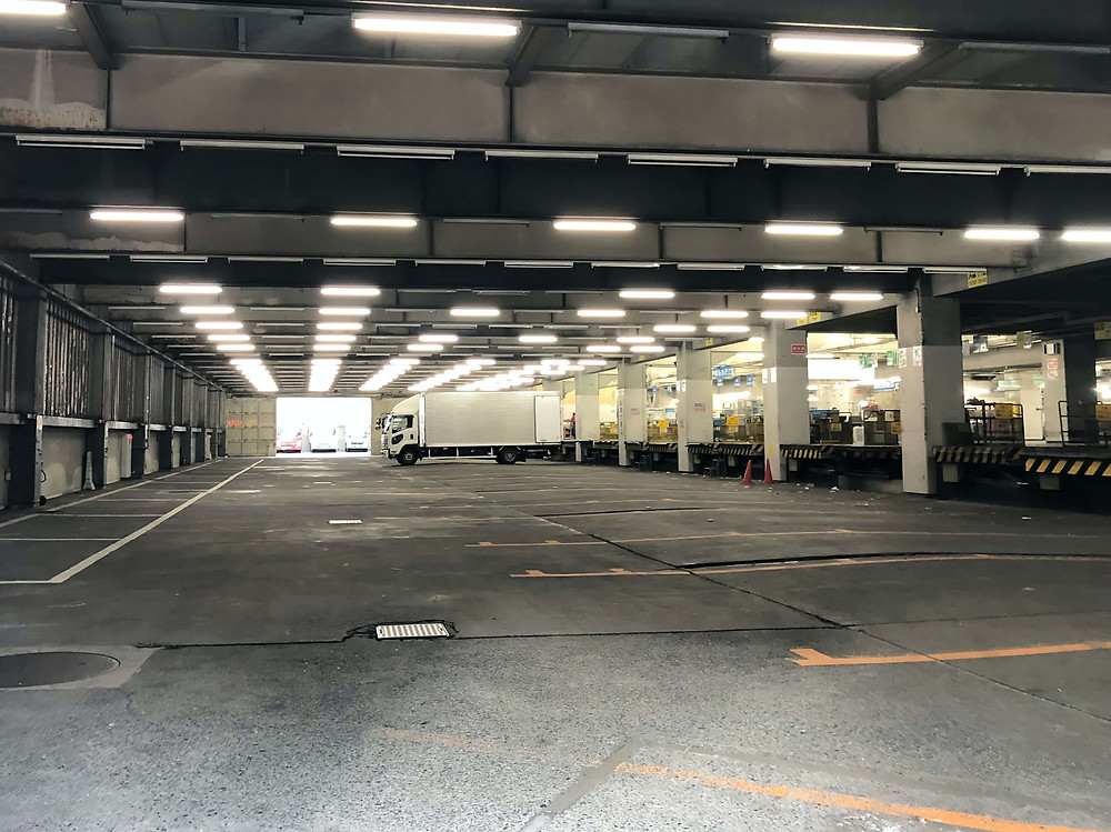 logistic center for middle mile using EV fleet management