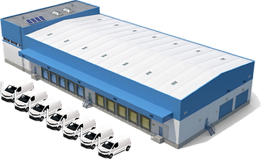 electric vehicle at logistic center for