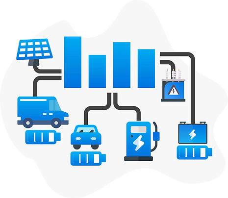 connect charge points, electric vehicles, and solar energy