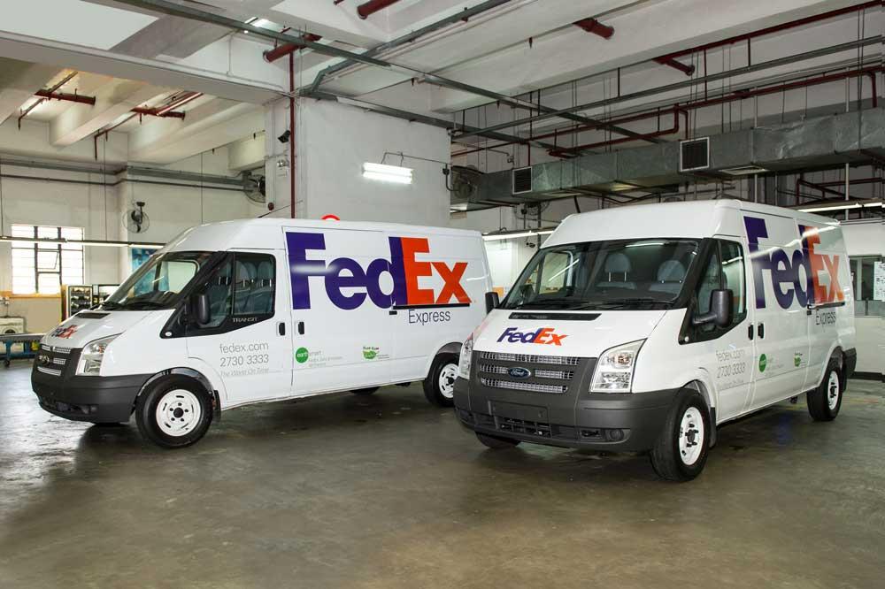EV fleet charging at FedEx