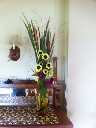 Sunflower Vase Arrangement
