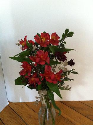 Alstromeria/Mixed Vase
