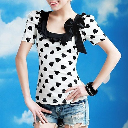 Heart Polka Dot Top