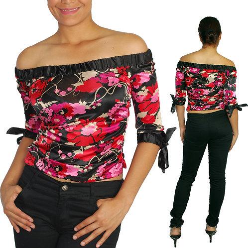 Floral Stretch Blouse