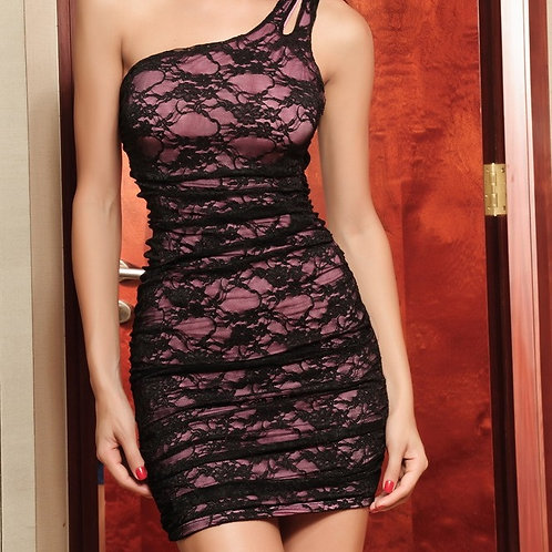 Elegant Sexy One-shoulder Mini Dress