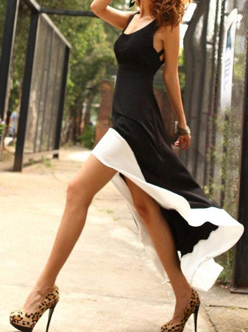 Black and White Swallowtail Dress