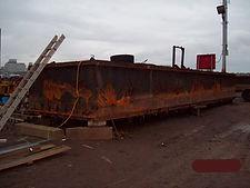 Barge repair in Boston MA.