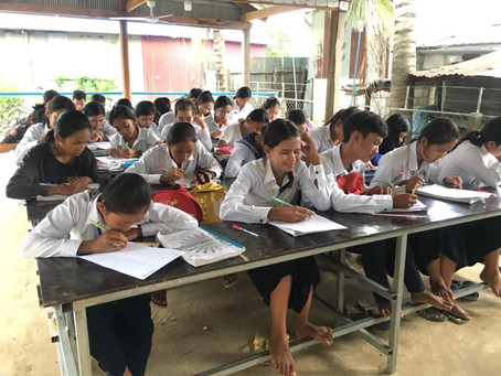 The students at our Bavel commune school are working hard, as is our awesome teacher!