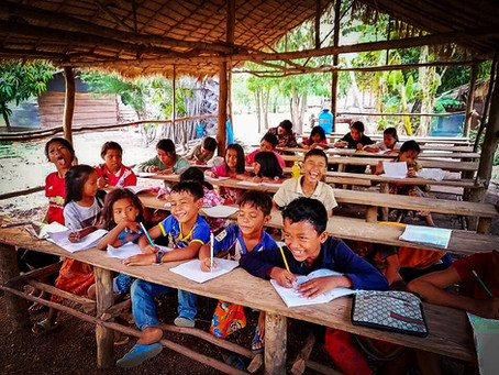 Our students at the Beng Mealea school studying hard for a better future!