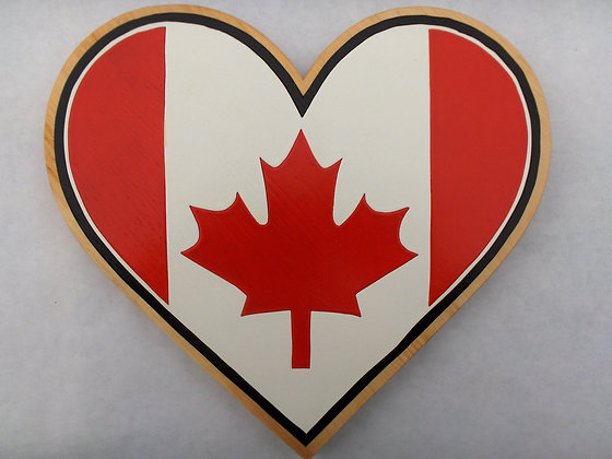 Canadian Flag in Heart