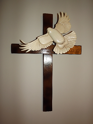 Dove On Cross