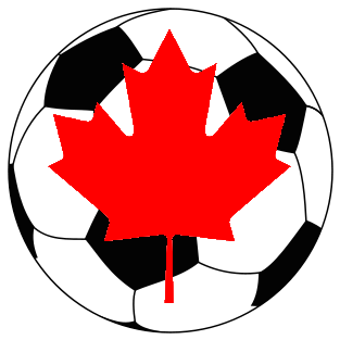 Soccer Ball with Red Leaf