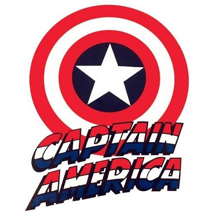 Captain America Name and Shield