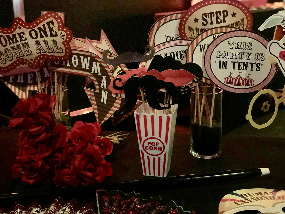 personalized props, hand made props, made in house, curated props, canon printer, elevated photo booth
