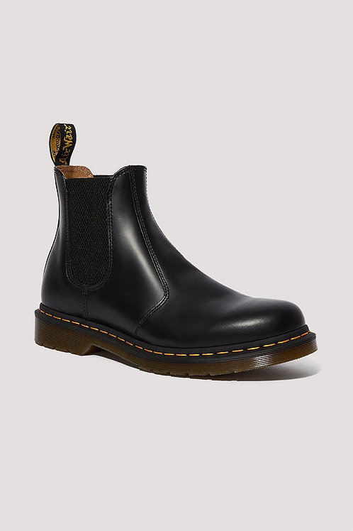 Dr Martens 2976 yellow stitch smooth leather chelsea boot