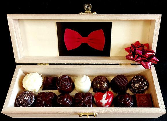 Pralinen in edler Geschenkbox mit 24 Stück