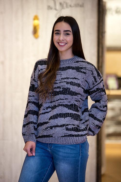 Chenille Stripe Sweater