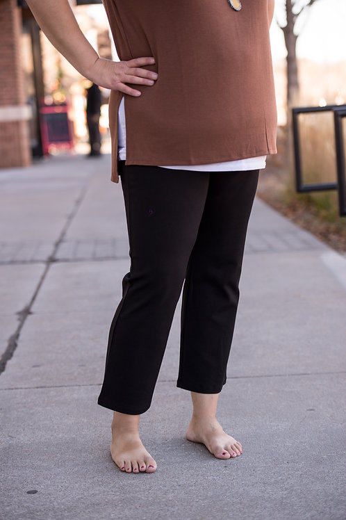 Ankle Black Stretchy Pant