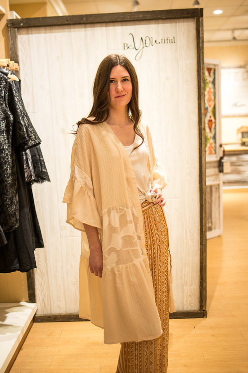 Creme Lace Duster