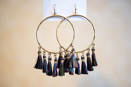 Circle Tassle Earrings