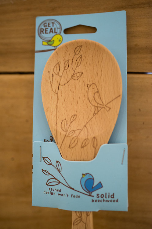 Birds and Florals Wooden Spoons