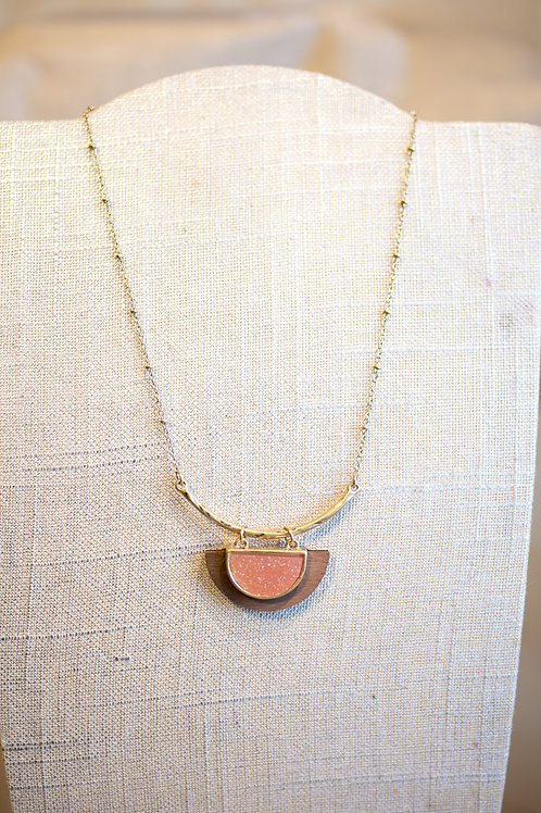 Pendant-on-a-bar Necklace