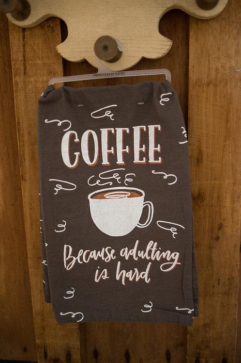 Coffee for Adulting Tea Towel