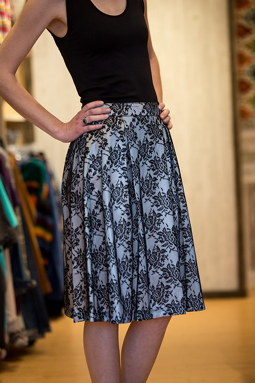 Flowy Silver Lace Skirt