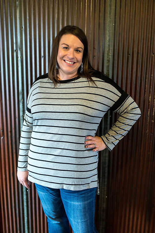 Striped Ribbed Knit