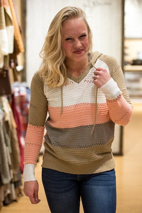 Striped Light Sweater Hoodie