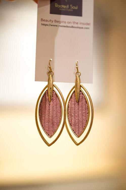 Pink Sueded Earrings