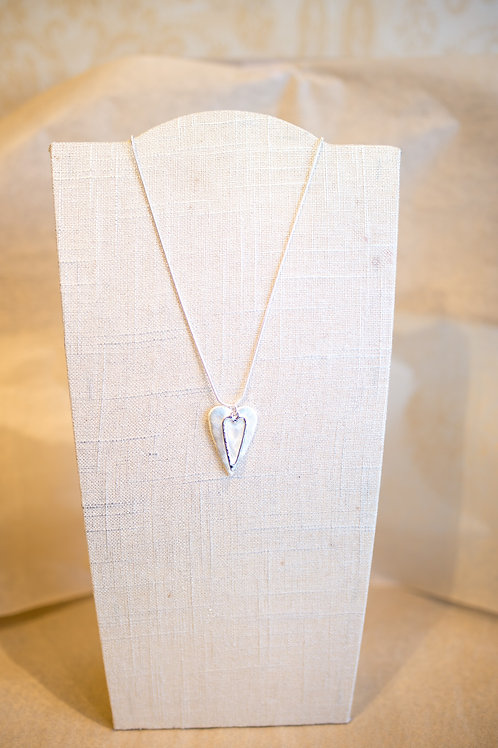 Small Heart Necklace/Earring Combo