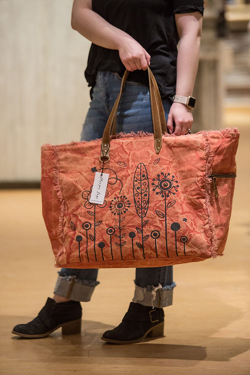 Bhrayna Bag Coral Large Travel Tote
